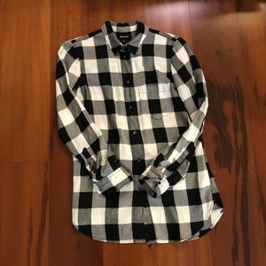 Madewell XS window pane button down w front pocket